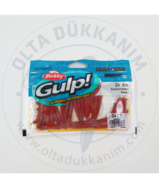Berkley Gulp Saltwater Sandworm Bloody
